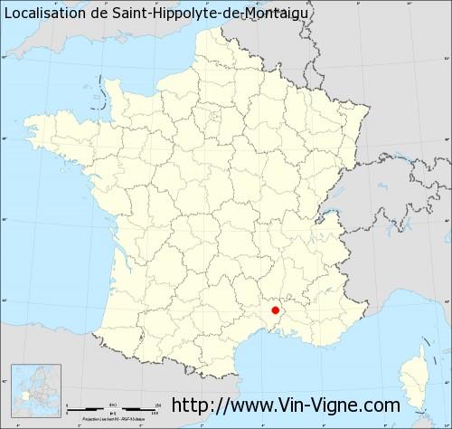 Carte de Saint-Hippolyte-de-Montaigu