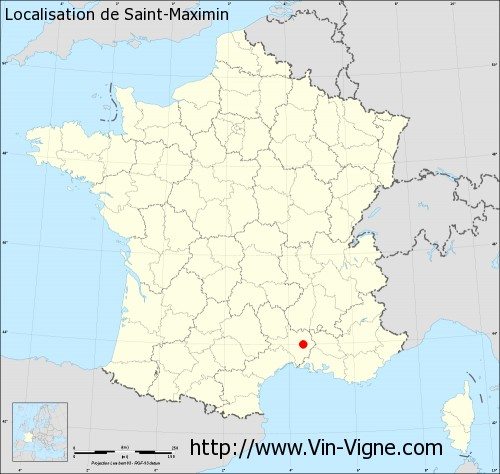 Carte de Saint-Maximin