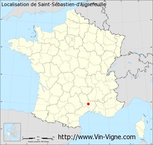 Carte de Saint-Sébastien-d'Aigrefeuille