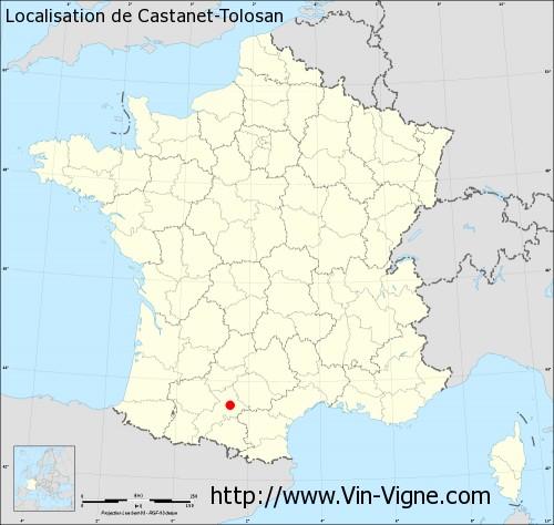 Carte de Castanet-Tolosan