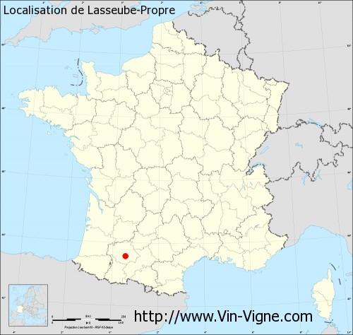 Carte de Lasseube-Propre