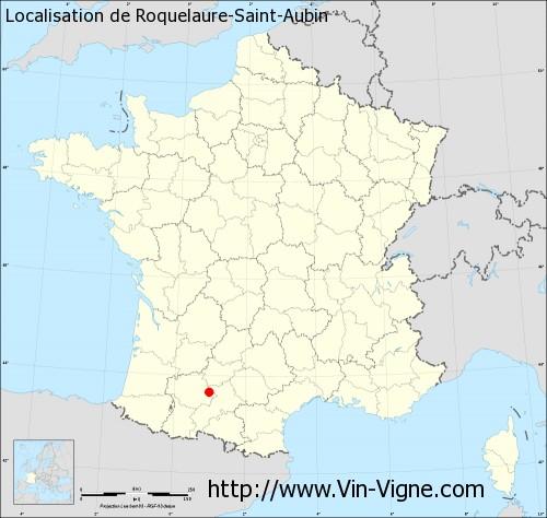 Carte de Roquelaure-Saint-Aubin