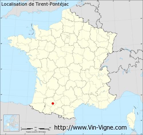 Carte de Tirent-Pontéjac