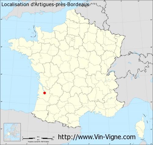 Carte d'Artigues-près-Bordeaux
