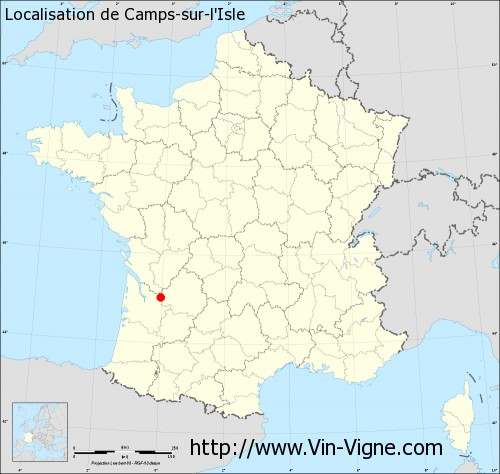 Carte de Camps-sur-l'Isle