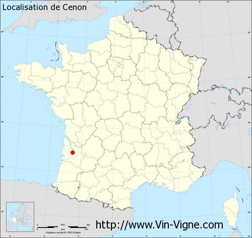 Carte de Cenon