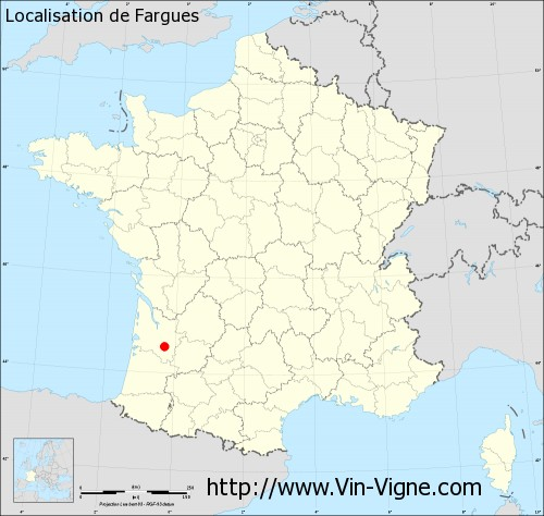 Carte  de Fargues