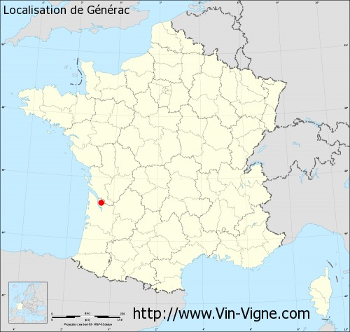 Carte de Générac