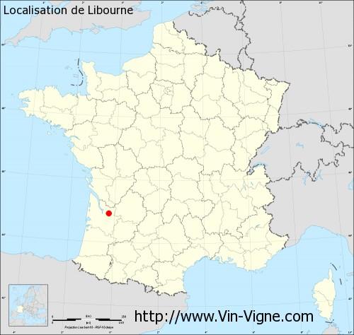 Carte de Libourne