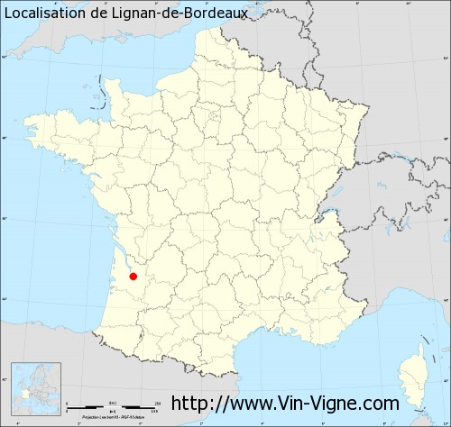 Carte de Lignan-de-Bordeaux