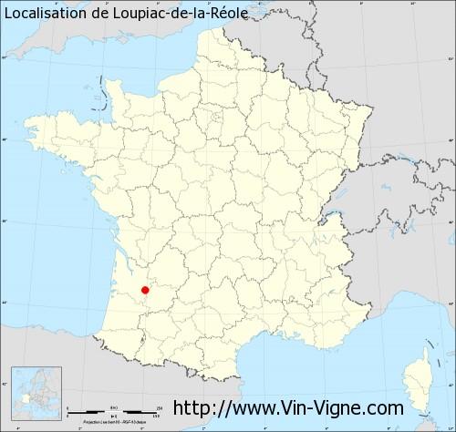 Carte de Loupiac-de-la-Réole