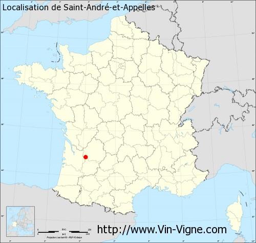 Carte de Saint-André-et-Appelles
