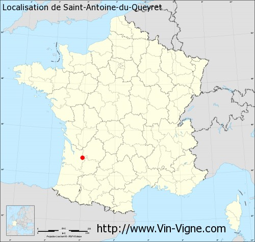 Carte de Saint-Antoine-du-Queyret