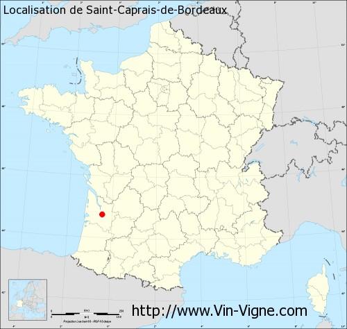 Carte de Saint-Caprais-de-Bordeaux