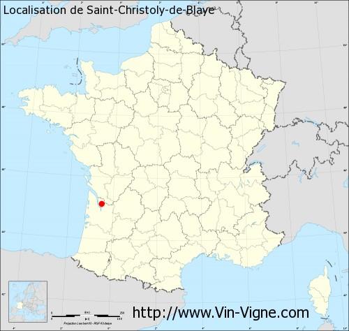 Carte de Saint-Christoly-de-Blaye