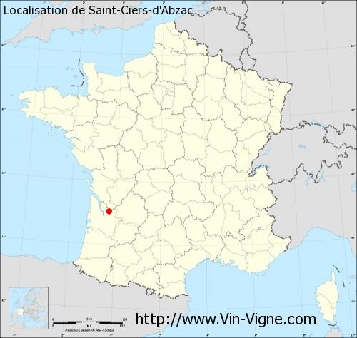 Carte de Saint-Ciers-d'Abzac