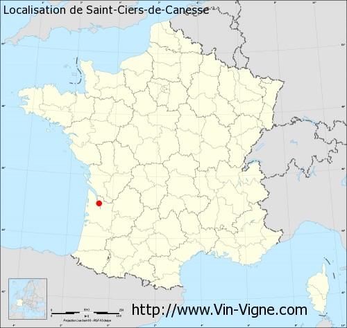 Carte de Saint-Ciers-de-Canesse