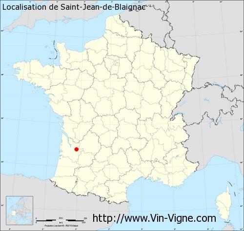 Carte de Saint-Jean-de-Blaignac