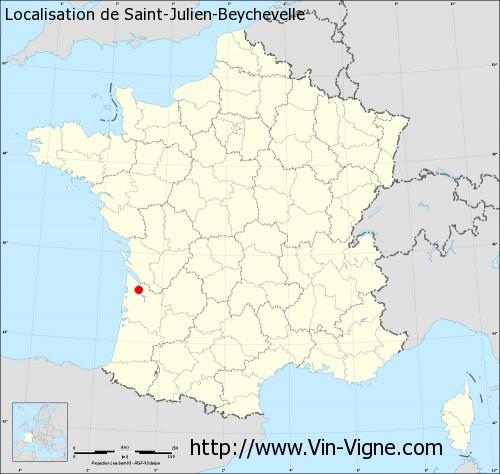 Carte de Saint-Julien-Beychevelle