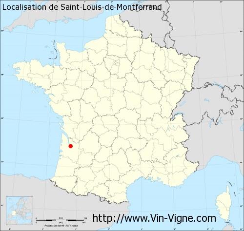 Carte de Saint-Louis-de-Montferrand