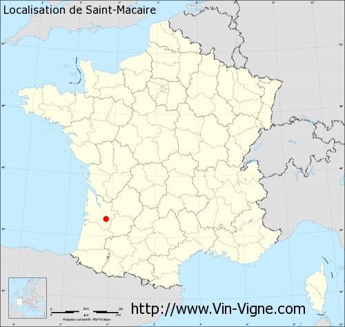 Carte de Saint-Macaire