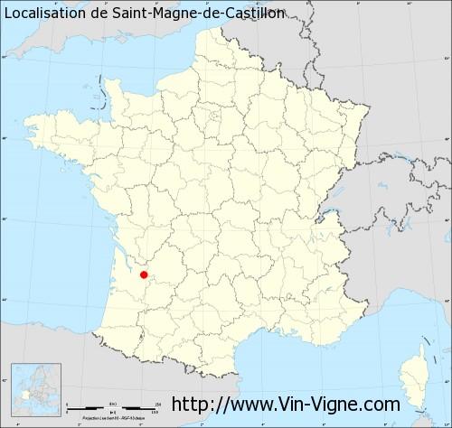 Carte  de Saint-Magne-de-Castillon