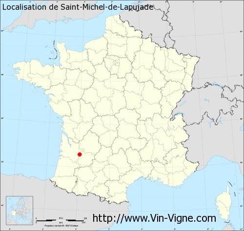 Carte de Saint-Michel-de-Lapujade