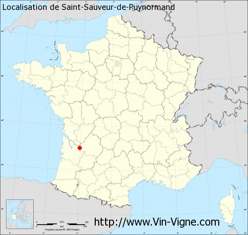 Carte de Saint-Sauveur-de-Puynormand