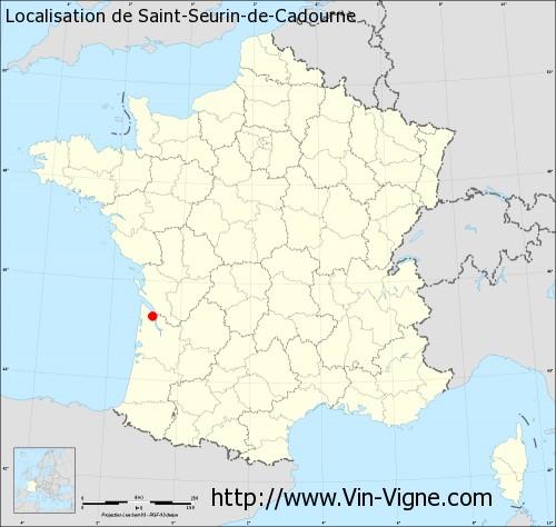 Carte de Saint-Seurin-de-Cadourne