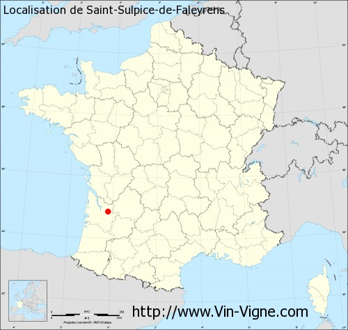 Carte de Saint-Sulpice-de-Faleyrens
