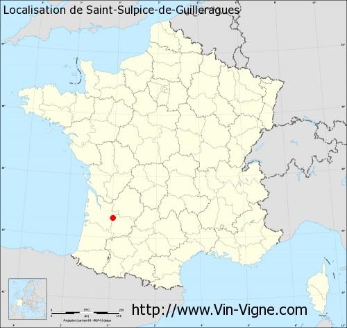 Carte de Saint-Sulpice-de-Guilleragues