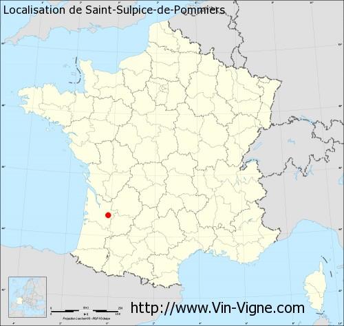 Carte de Saint-Sulpice-de-Pommiers