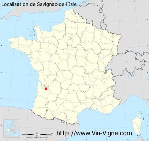 Carte de Savignac-de-l'Isle