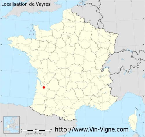 Carte de Vayres