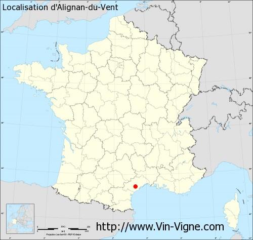 Carte d'Alignan-du-Vent