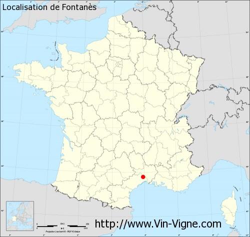 Carte de Fontanès
