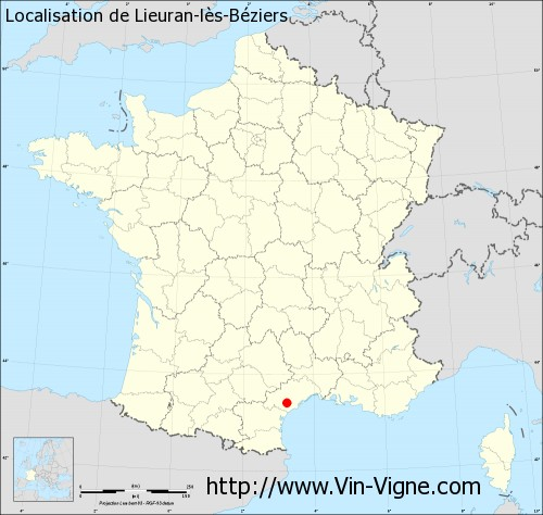 Carte de Lieuran-lès-Béziers