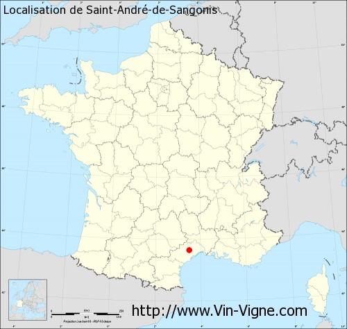 Carte de Saint-André-de-Sangonis