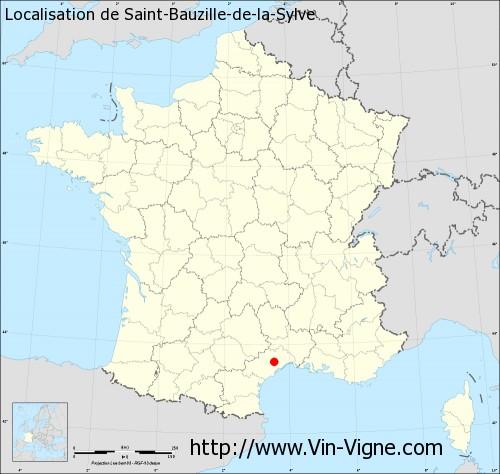 Carte de Saint-Bauzille-de-la-Sylve