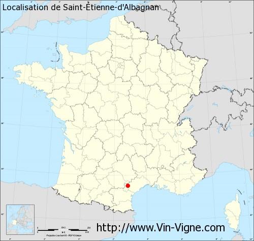 Carte de Saint-Étienne-d'Albagnan