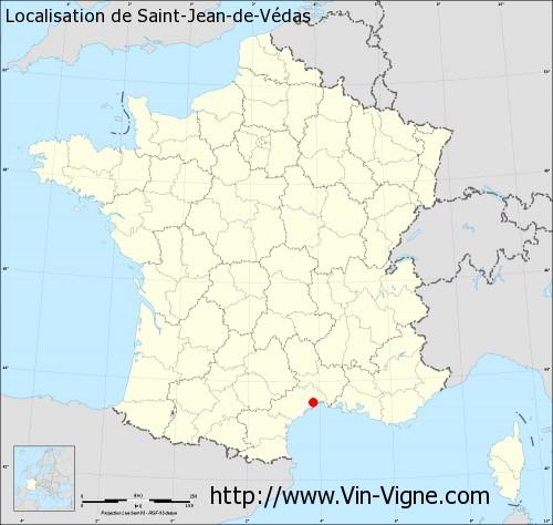 Carte de Saint-Jean-de-Védas