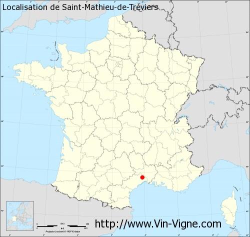 Carte de Saint-Mathieu-de-Tréviers