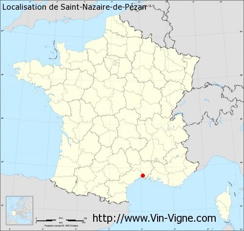 Carte de Saint-Nazaire-de-Pézan