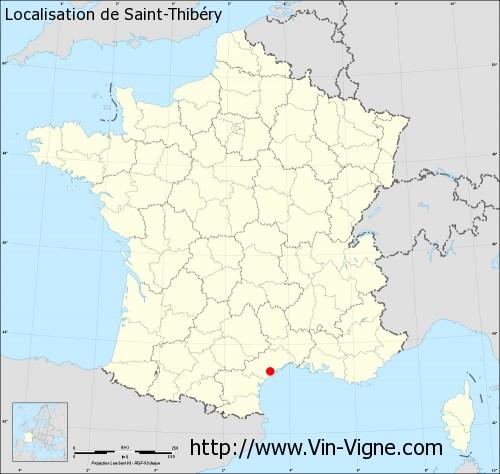 Carte de Saint-Thibéry