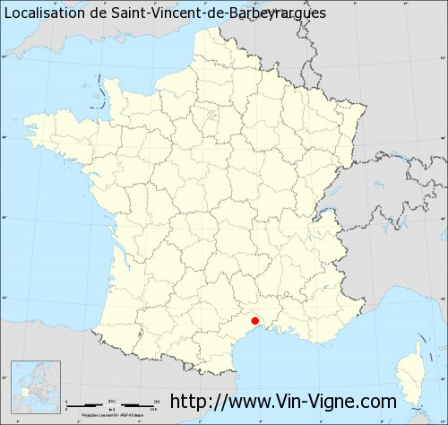 Carte de Saint-Vincent-de-Barbeyrargues