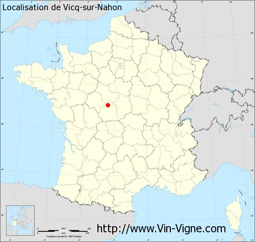 Carte de Vicq-sur-Nahon