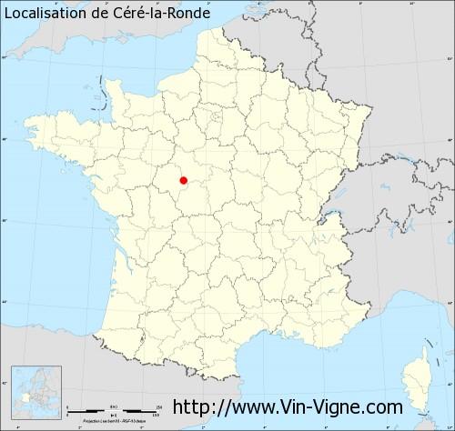 Carte de Céré-la-Ronde