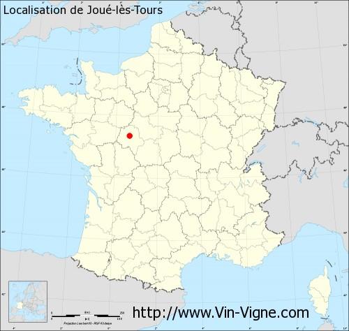 Carte de Joué-lès-Tours