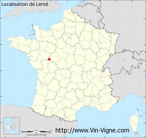 Carte de Lerné