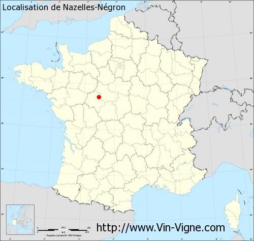 Carte de Nazelles-Négron